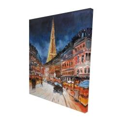 Canvas 48 x 60 - 3D - Illuminated paris
