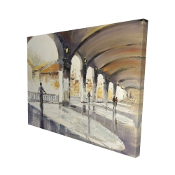 Canvas 48 x 60 - 3D - People in a spacious hall