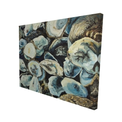 Canvas 48 x 60 - 3D - Oyster shells