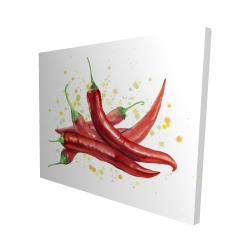Canvas 48 x 60 - 3D - Red hot peppers