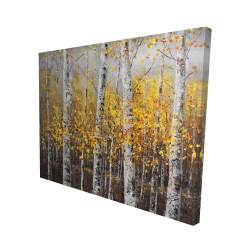 Canvas 48 x 60 - 3D - Sunny birch trees