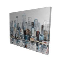Canvas 48 x 60 - 3D - Abstract urban skyline