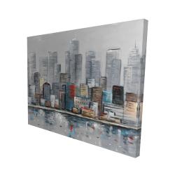 Canvas 48 x 60 - 3D - Abstract city skyline