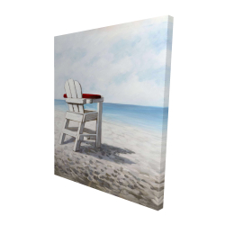 Canvas 48 x 60 - 3D - White beach chair