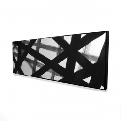 Framed 16 x 48 - 3D - Abstract bold lines