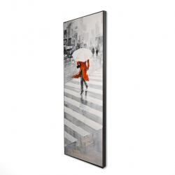 Framed 16 x 48 - 3D - Rainy day in the city