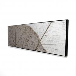 Framed 16 x 48 - 3D - Translucent dried leaves