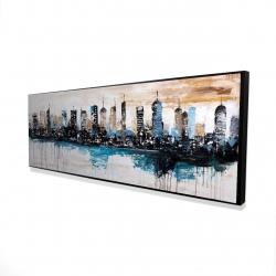 Framed 16 x 48 - 3D - Buildings on the horizon
