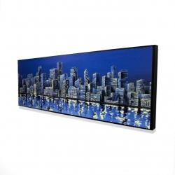 Framed 16 x 48 - 3D - City in blue
