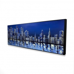 Framed 16 x 48 - 3D - Blue skyline