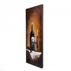 Framed 16 x 48 - 3D - Candlelit wine