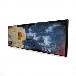 Framed 16 x 48 - 3D - Abstract art with numbers