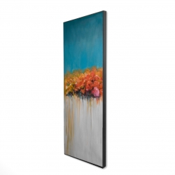 Framed 16 x 48 - 3D - Orange flowers bundle