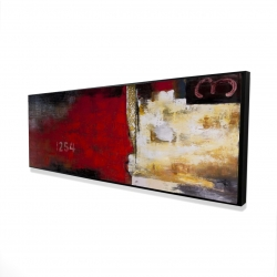 Framed 16 x 48 - 3D - Abstract industrial art with numbers