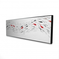Framed 16 x 48 - 3D - Swimming fish wave