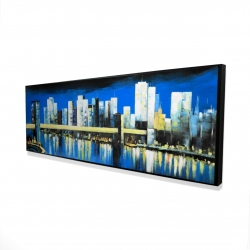 Framed 16 x 48 - 3D - Skyline of lower manhattan