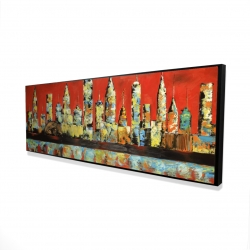 Framed 16 x 48 - 3D - View of red city