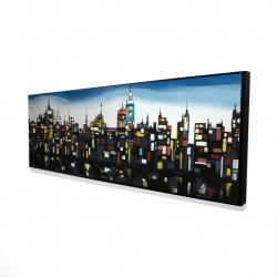 Framed 16 x 48 - 3D - Colorful buildings