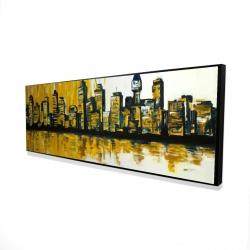 Framed 16 x 48 - 3D - Yellow city