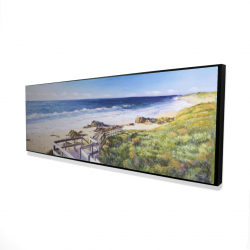 Framed 16 x 48 - 3D - Walk to the beach