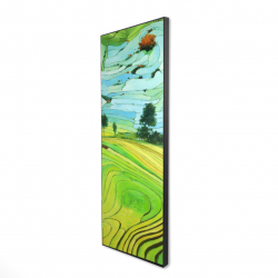 Framed 20 x 60 - 3D - Rice fields of vietnam
