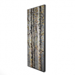Framed 16 x 48 - 3D - Blossoming birches