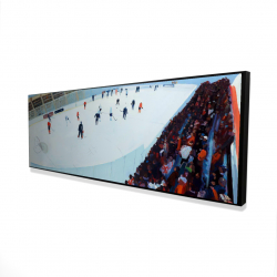 Framed 16 x 48 - 3D - Game of hockey