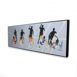 Framed 16 x 48 - 3D - On your marks, get set, go!