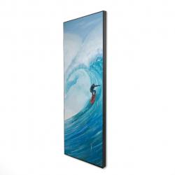 Framed 16 x 48 - 3D - Surfer on a big wave