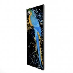 Framed 16 x 48 - 3D - Blue macaw parrot