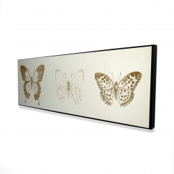Framed 16 x 48 - 3D - Butteflies sketch