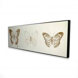 Framed 16 x 48 - 3D - Butterflies sketch