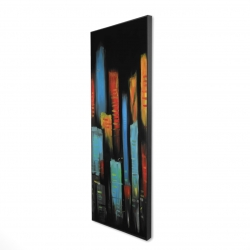 Framed 16 x 48 - 3D - Abstract and colorful tall buildings
