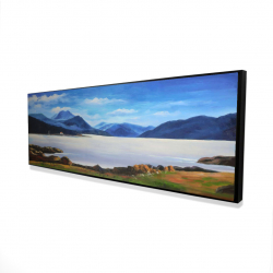 Framed 16 x 48 - 3D - Scottish highlands by a beautiful day