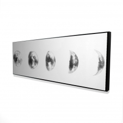 Framed 16 x 48 - 3D - Black and white eclipse