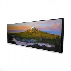 Framed 16 x 48 - 3D - Mount fuji landscape