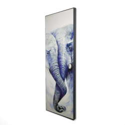 Framed 16 x 48 - 3D - Elephant couple loving each other