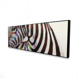 Framed 16 x 48 - 3D - Colorful zebra