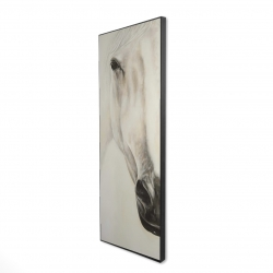 Framed 16 x 48 - 3D - Half portrait of a peaceful horse