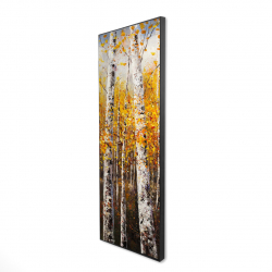 Framed 16 x 48 - 3D - Birches by sunny day