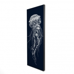 Framed 20 x 60 - 3D - Detailed jellyfish illustration