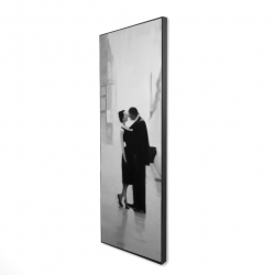 Framed 16 x 48 - 3D - Couple in the street