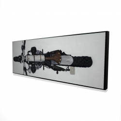 Framed 16 x 48 - 3D - Overhead view of a motorcycle