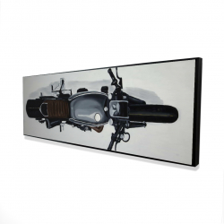 Framed 16 x 48 - 3D - Overhead view of a motorbike