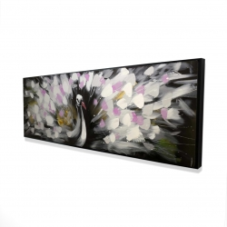 Framed 16 x 48 - 3D - Beautiful spotted peacock