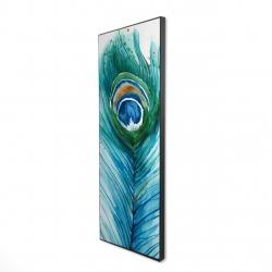 Framed 16 x 48 - 3D - Long peacock feather