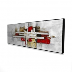 Framed 16 x 48 - 3D - Abstract intertwining shapes