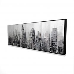 Encadré 16 x 48 - 3D - Ville grise avec éclats de peinture