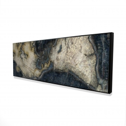 Framed 16 x 48 - 3D - Old world map