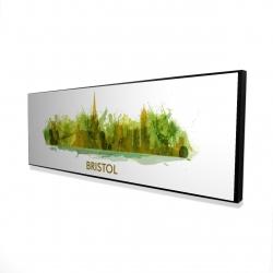 Framed 16 x 48 - 3D - Paint splash silhouette of bristol